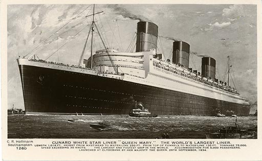 RMS Queen Mary makes her maiden voyage